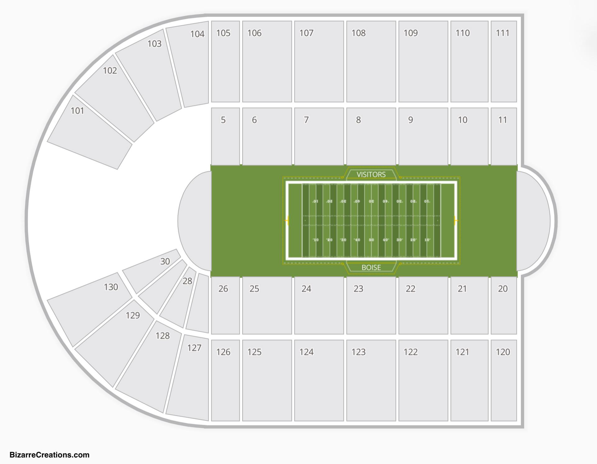 Albertsons Stadium Seating Chart Concert