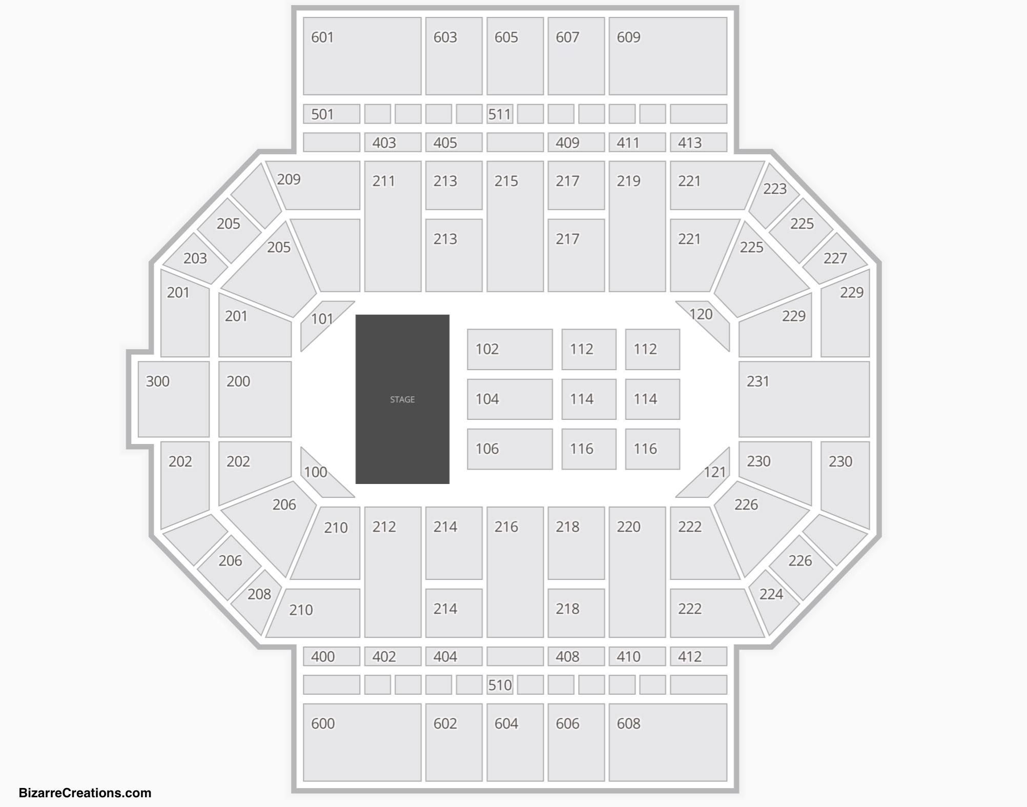 Allen County War Memorial Coliseum Seating Chart Concert