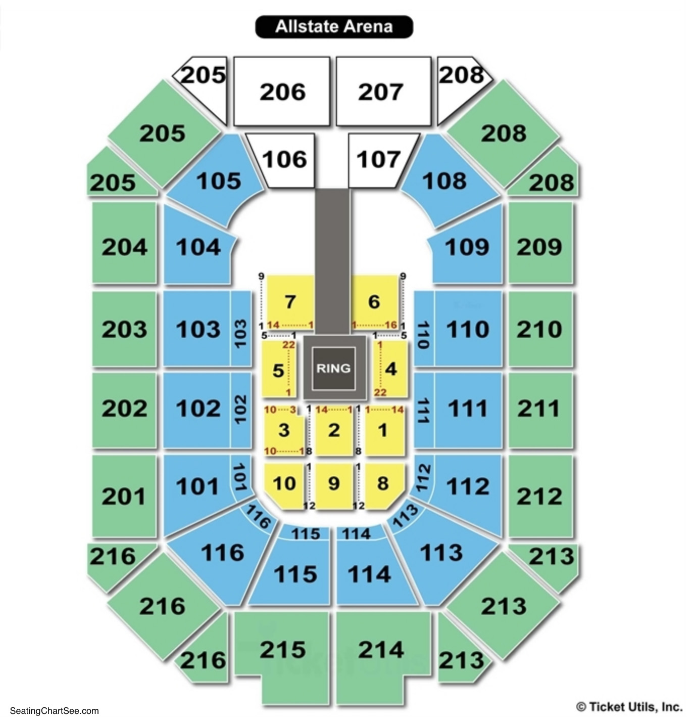 Allstate Arena wwe Seating Chart
