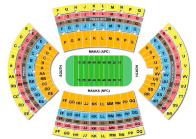 Aloha Stadium Seating Chart Football