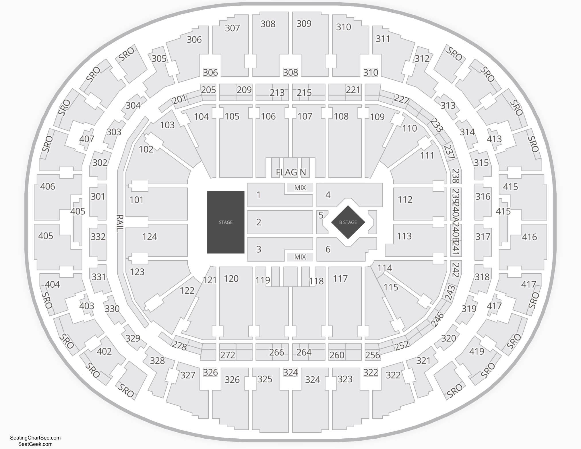 American Airlines Arena  Seating Chart Concert
