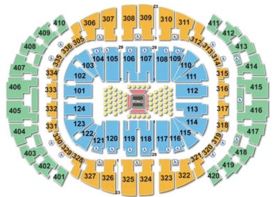 American Airlines Arena Seating Chart Boxing
