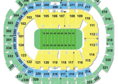 American Airlines Center Seating Chart Football