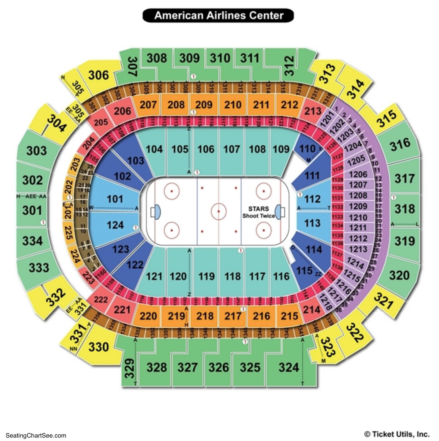 American Airlines Center Seating Chart Hockey