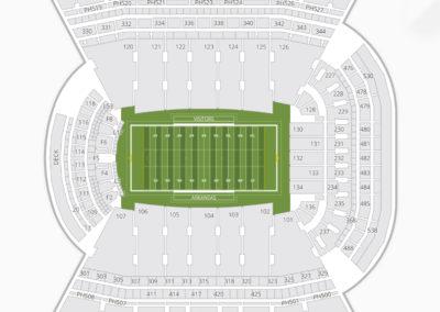 Arkansas Razorbacks Football Seating Chart