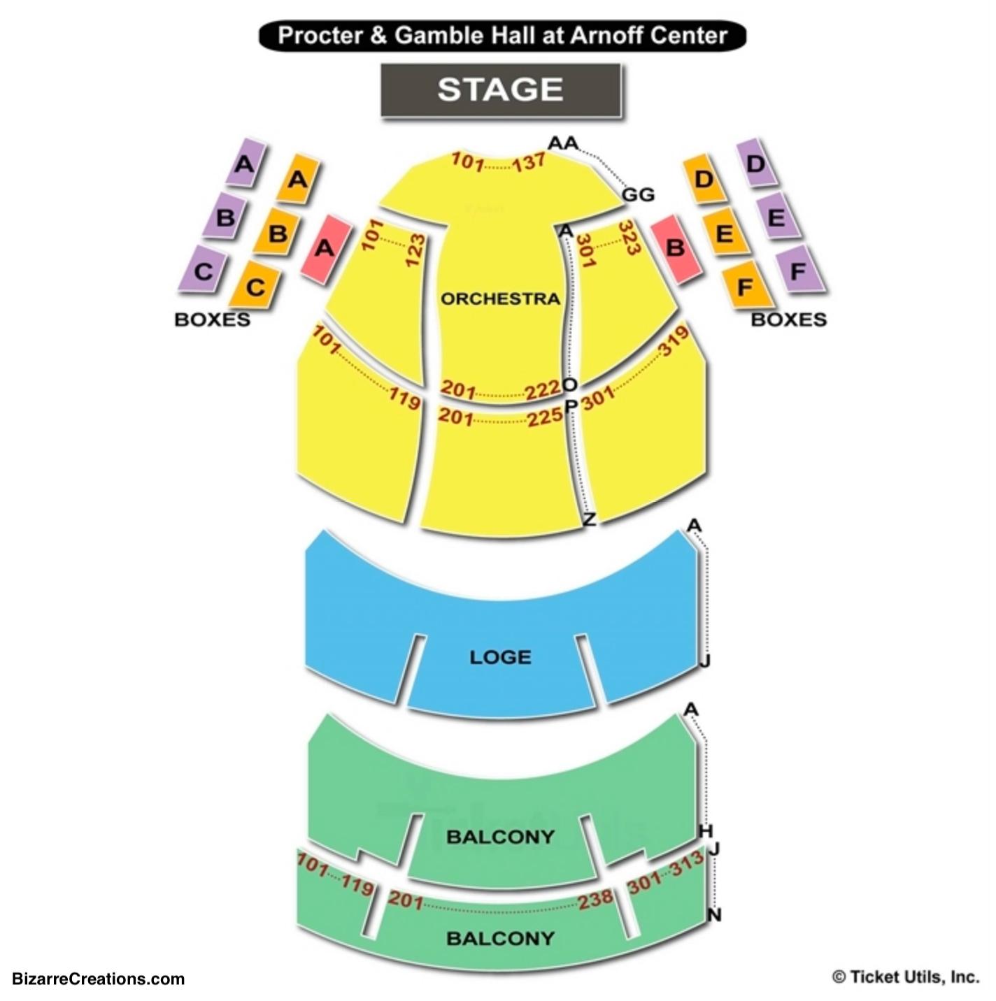 Aronoff Center Seating Chart