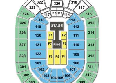 BOK Center Seating Chart wwe