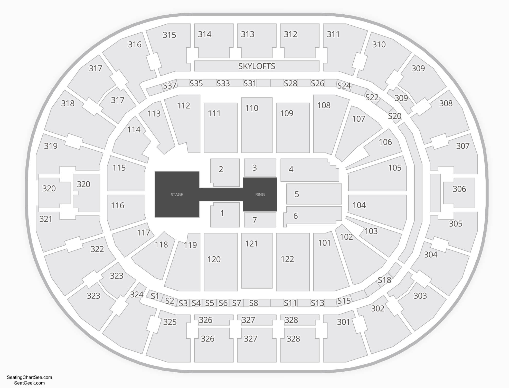 BOK Center Wwe Seating Chart