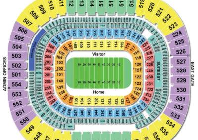 Bank of America Stadium Seating Chart Football