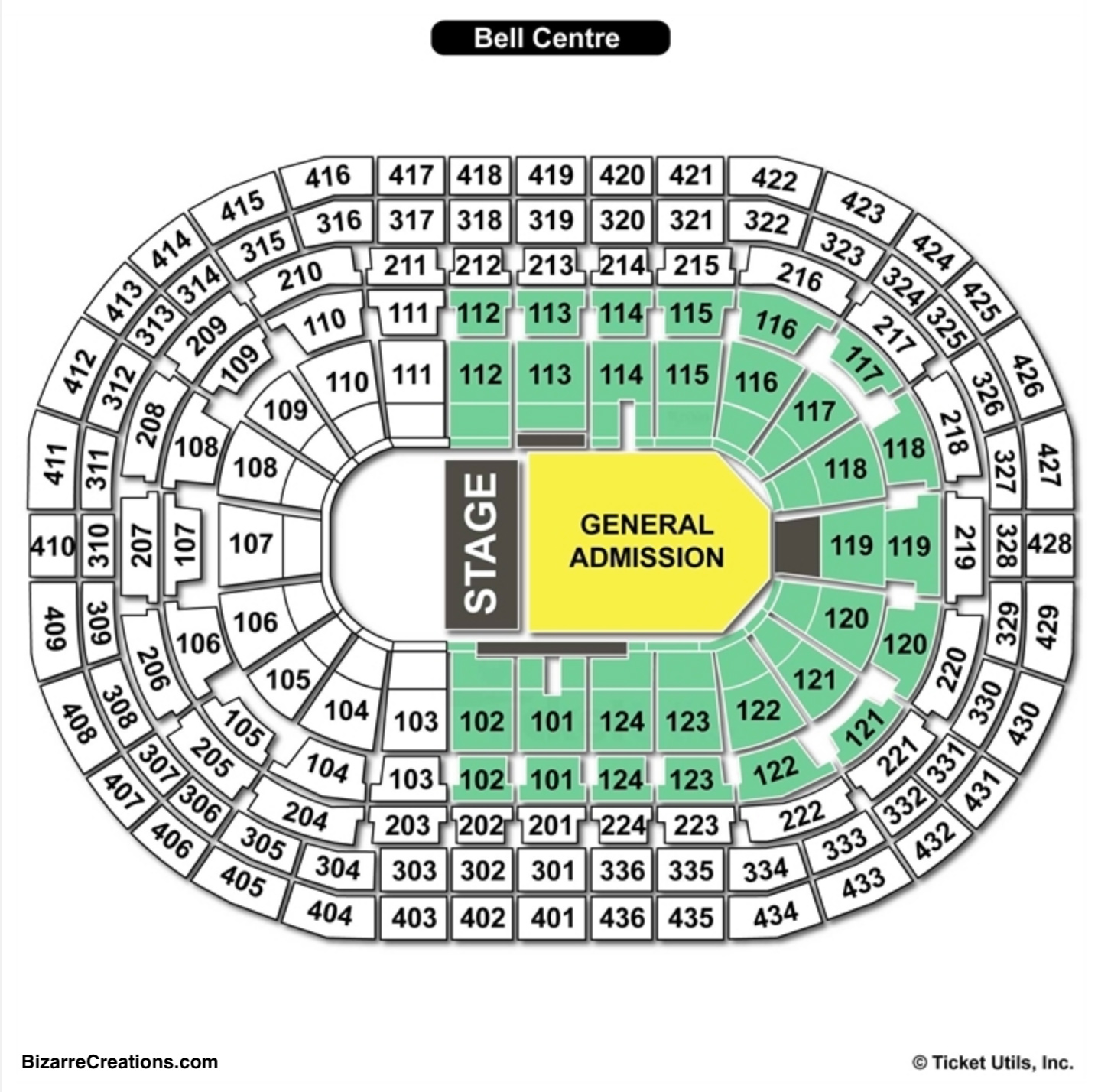 Bell Centre Concert Seating Chart