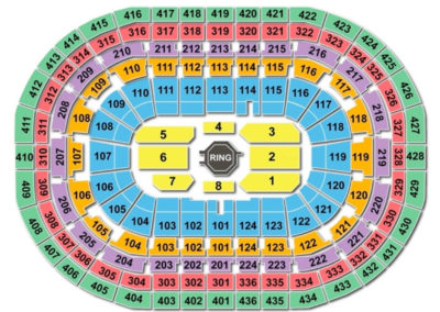 Bell Centre Seating Chart UFC