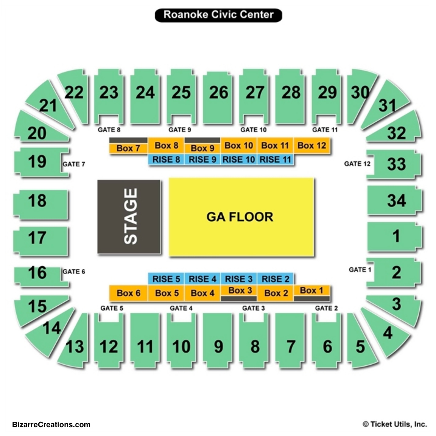 Berglund Center Concert Seating Chart