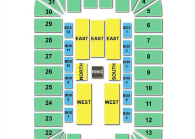 Berglund Center Seating Chart WWE