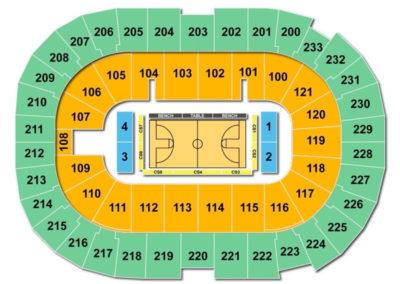 Bi-Lo Center Seating Chart Basketball