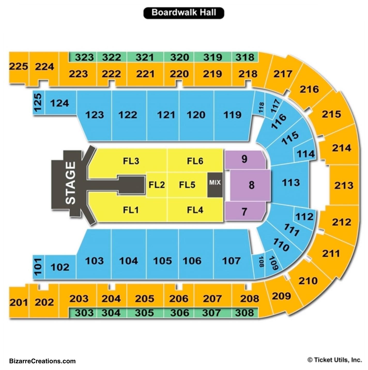 Boardwalk Hall Seating Chart Concert