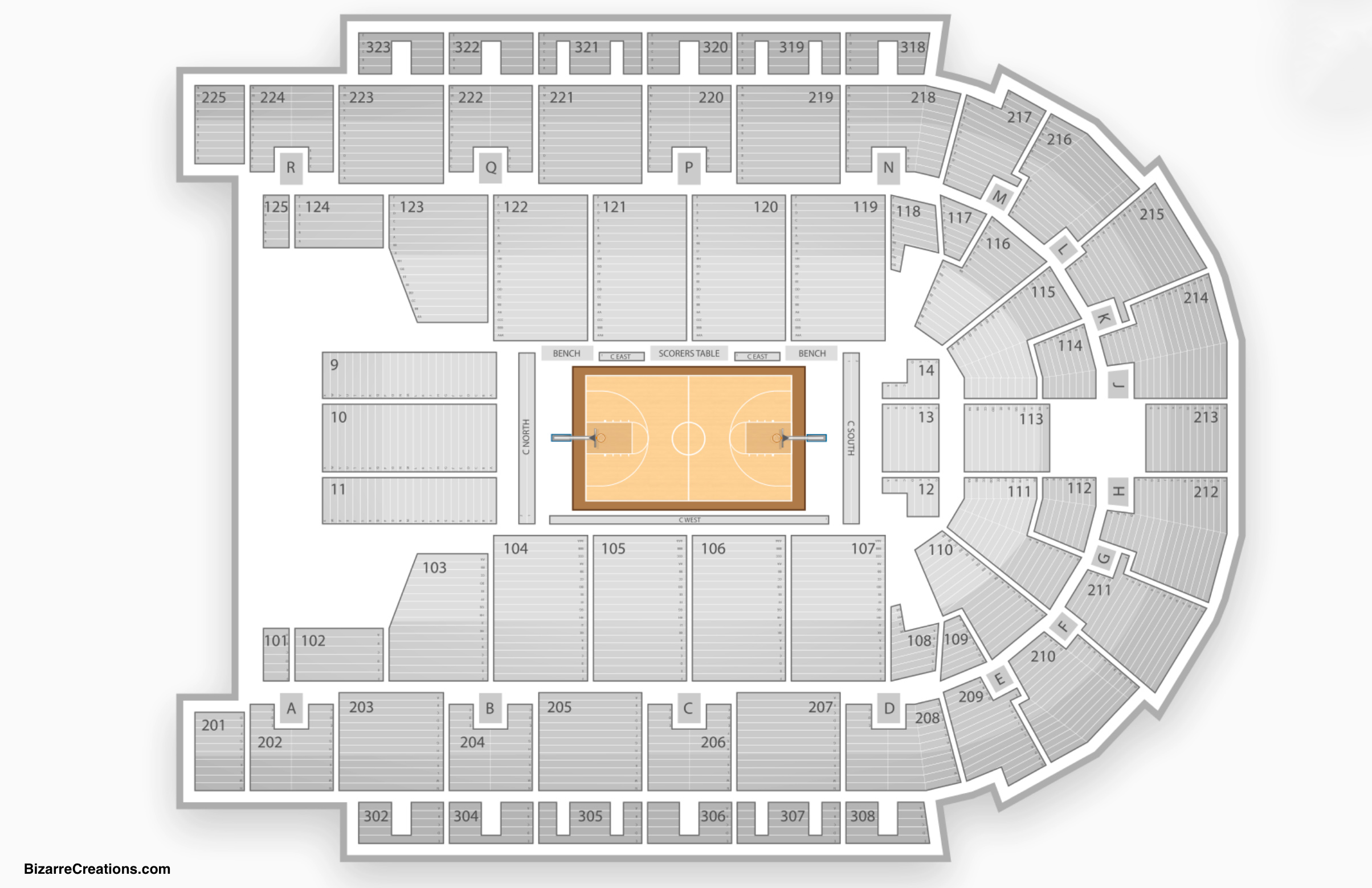 Boardwalk Hall Seating Chart Basketball