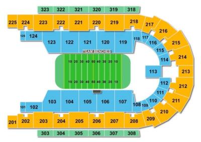 Boardwalk Hall Seating Chart Football