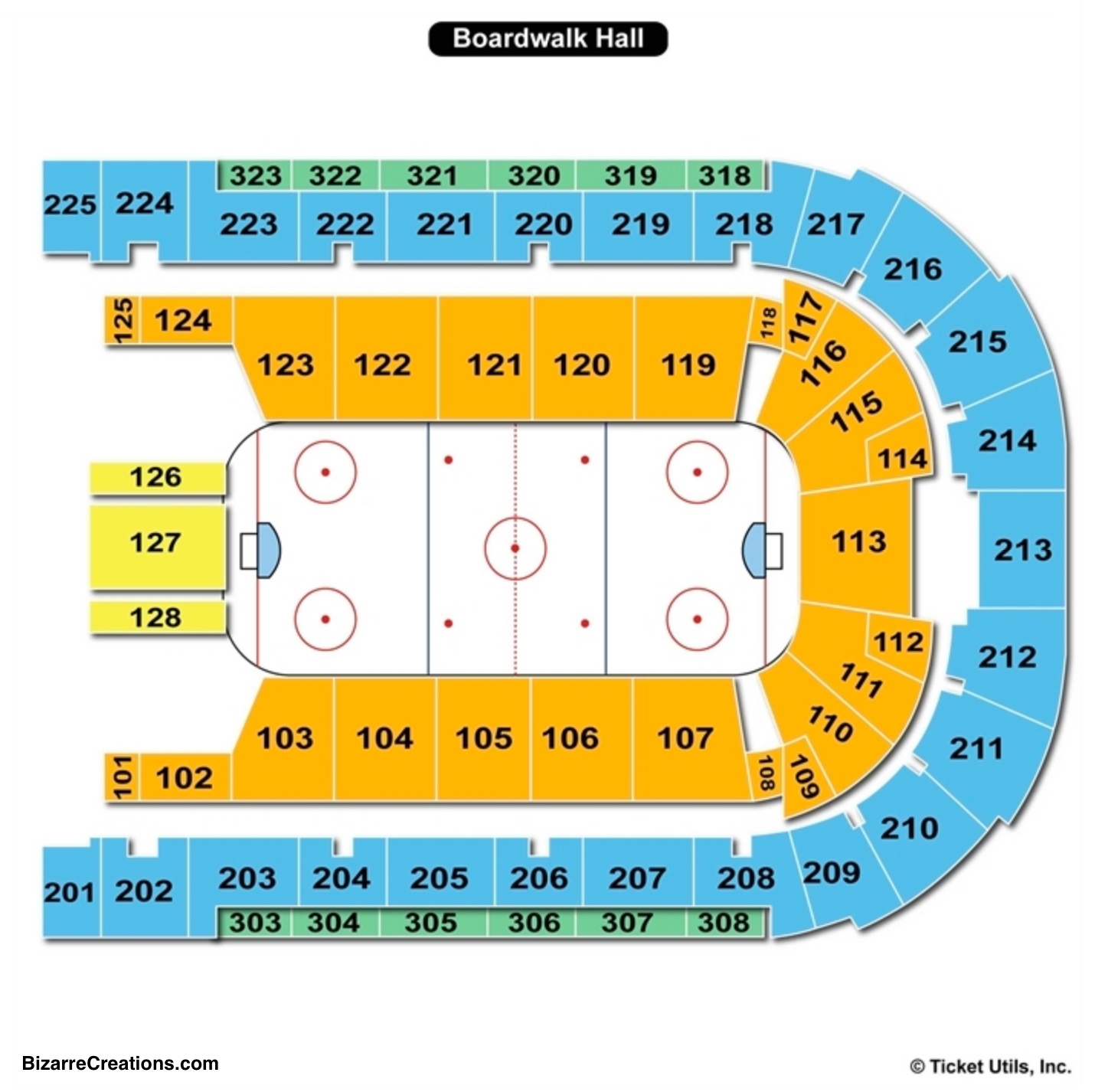 Boardwalk Hall Seating Chart Hockey
