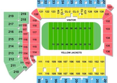 Bobby Dodd Stadium Seating Chart Football