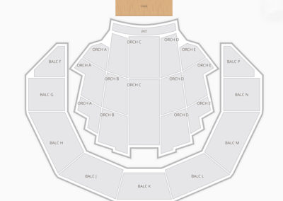 Brady Theater Seating Chart Concert