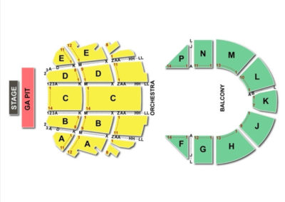 Brady Theater Seating Chart Dance Performance Tour