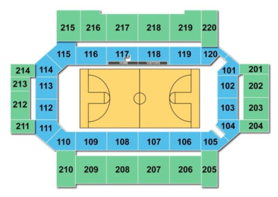 Broadmoor World Arena Basketball Seating Chart
