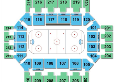 Broadmoor World Arena Seating Chart Hockey