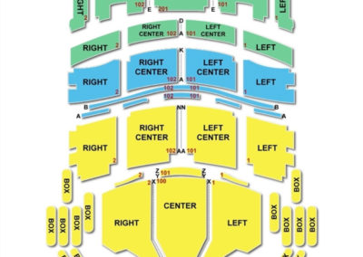 Broward Center for the Performing Arts - Au Rene Theater Seating Chart