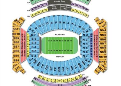Bryant Denny Stadium Football Seating Chart