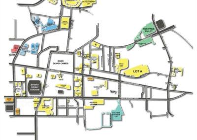Bryant Denny Stadium Parking Lots