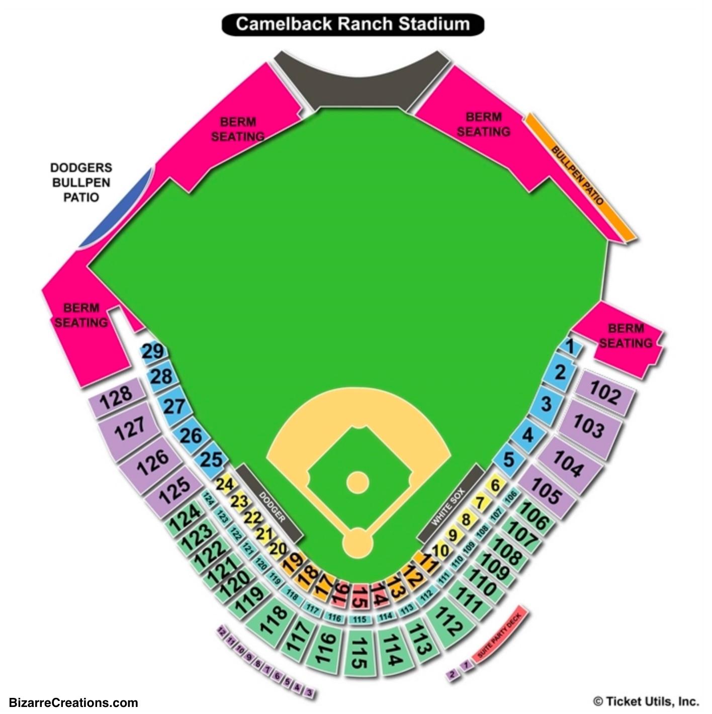 Camelback Ranch Seating Chart Baseball