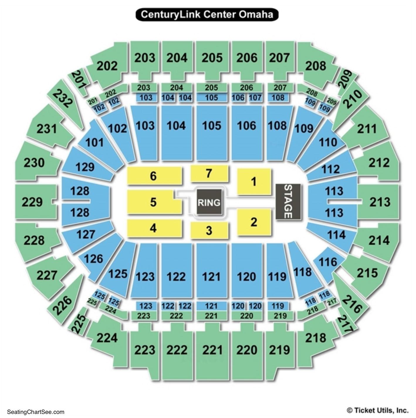 CenturyLink Center Omaha Seating Chart WWE