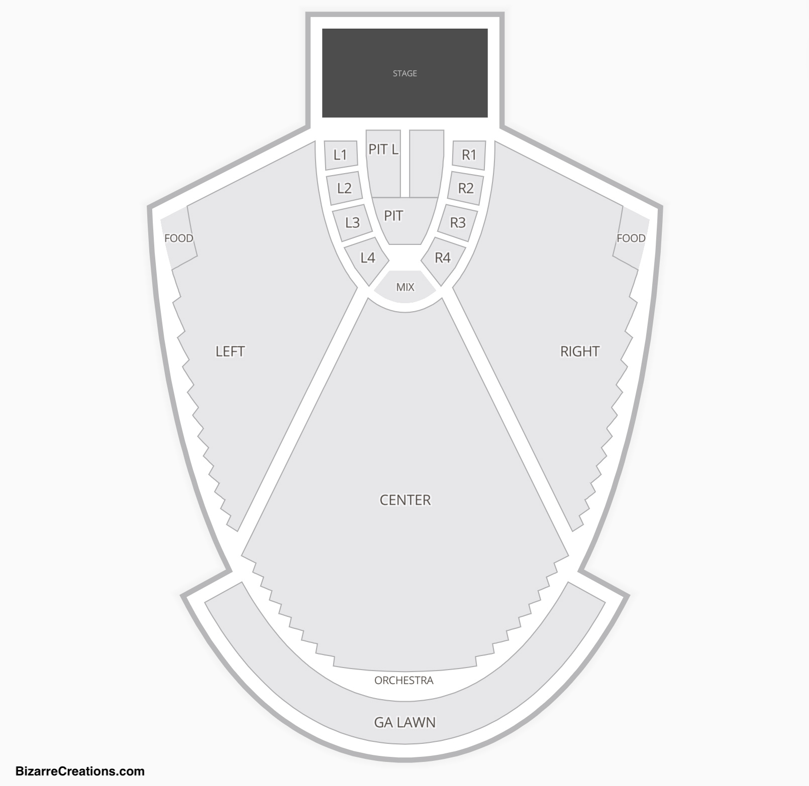Chastain Park Amphitheatre Seating Chart Concert