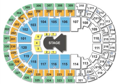 Chesapeake Energy Arena Cirque Seating Chart