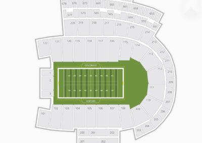Colorado Buffaloes Football Seating Chart
