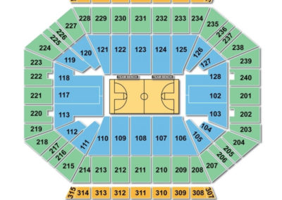 DCU Center Seating Chart Basketball