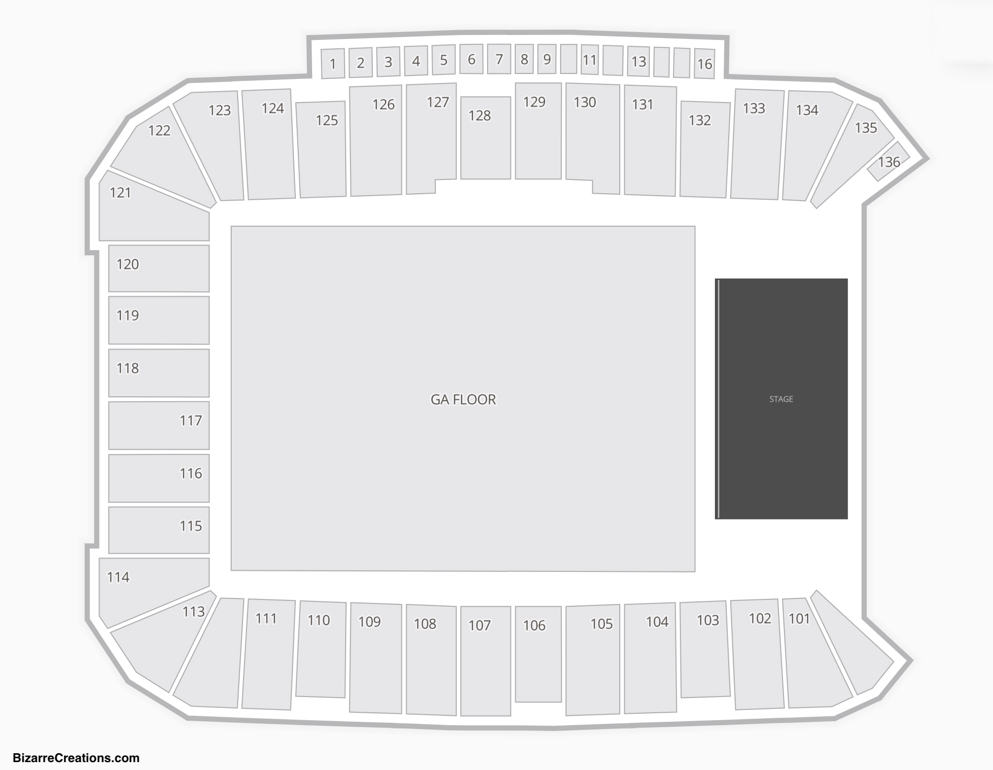 DSG Park Seating Chart Concert