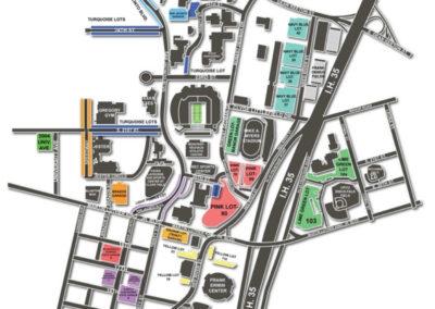 Darrell K Royal Texas Memorial Stadium Parking Lots