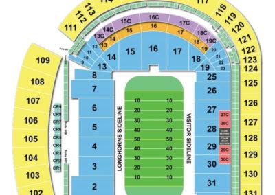 Darrell K Royal Texas - Memorial Stadium Seating Chart