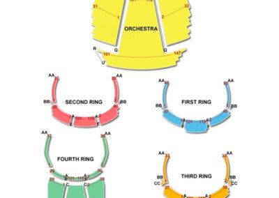 David H Koch Theater Seating Chart Concert