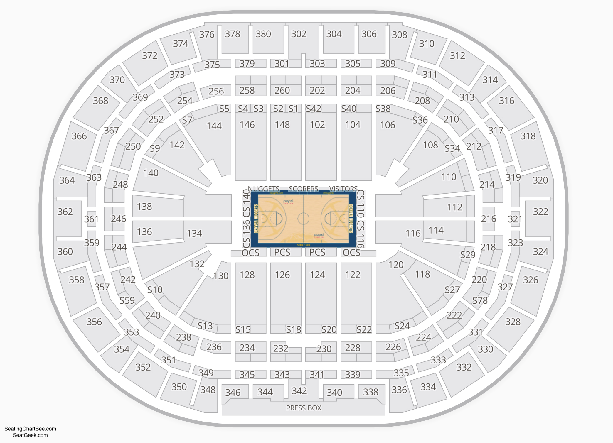 Denver Nuggets Seating Chart