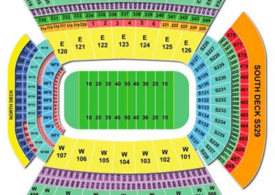Donald W. Reynolds Razorback Stadium Seating Chart Football