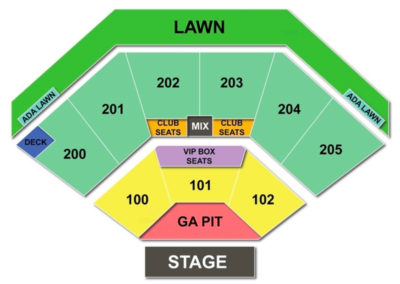 Dos Equis Pavilion Seating Chart Dallas