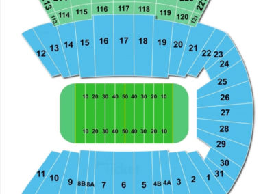 Dowdy-Ficklen Stadium Seating Chart - Greenville