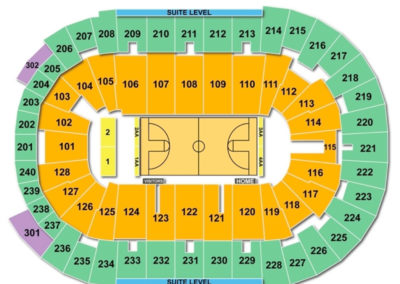 Dunkin' Donuts Center Basketball Seating Chart