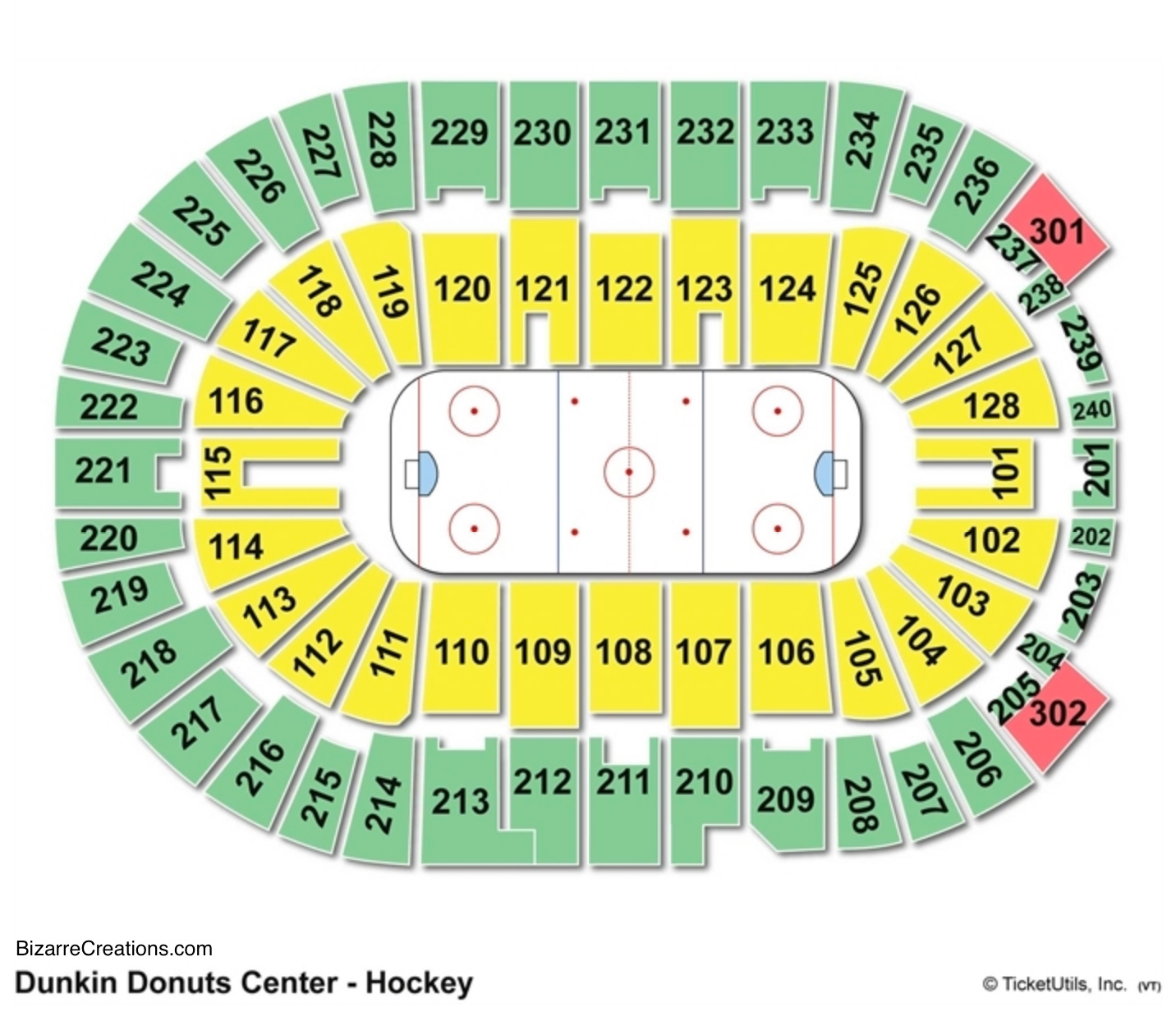 Dunkin' Donuts Center Hockey Seating Chart