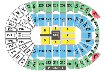 Dunkin' Donuts Center Wrestling Seating Chart