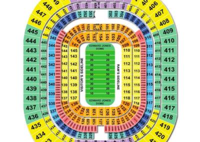 Edward Jones Dome Seating Chart Football