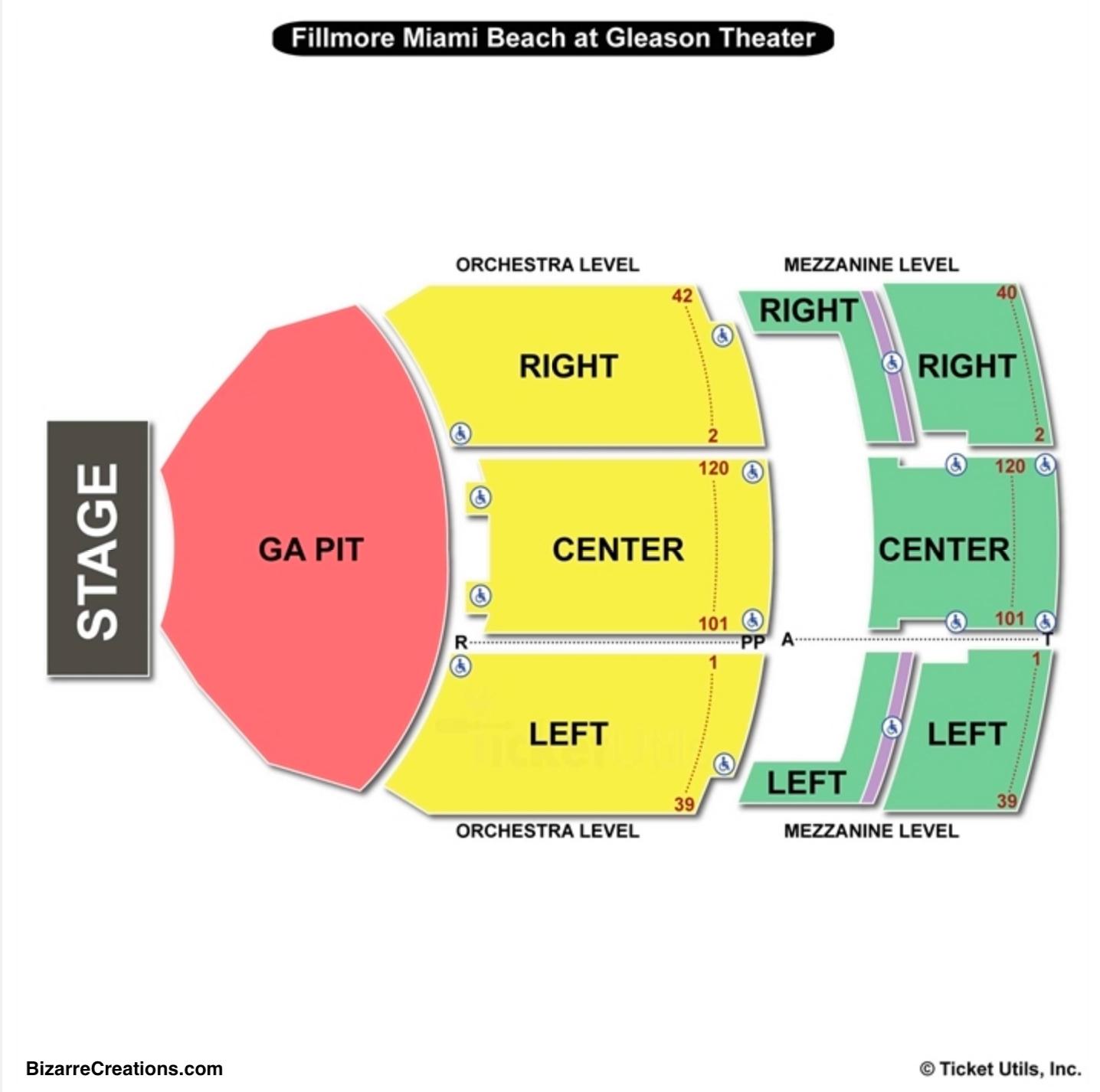 Jackie Gleason Theater Seating Chart