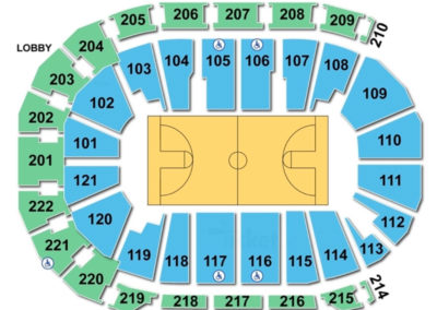 Ford Center Seating Chart Basketball
